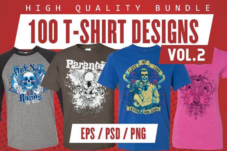 100 T-shirt Designs Vol 2 example image 1