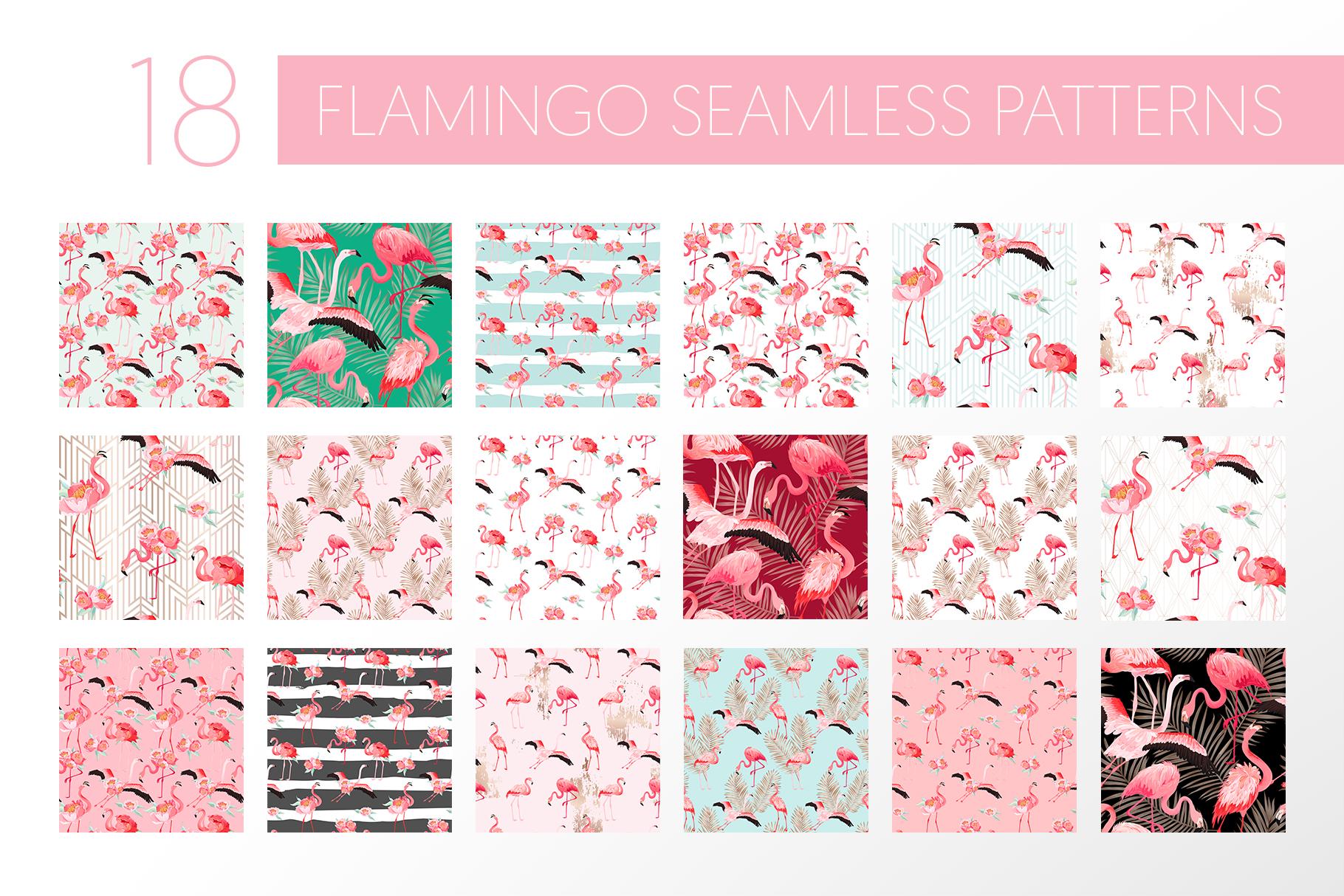 Flamingo and Flowers Design Kit example image 6
