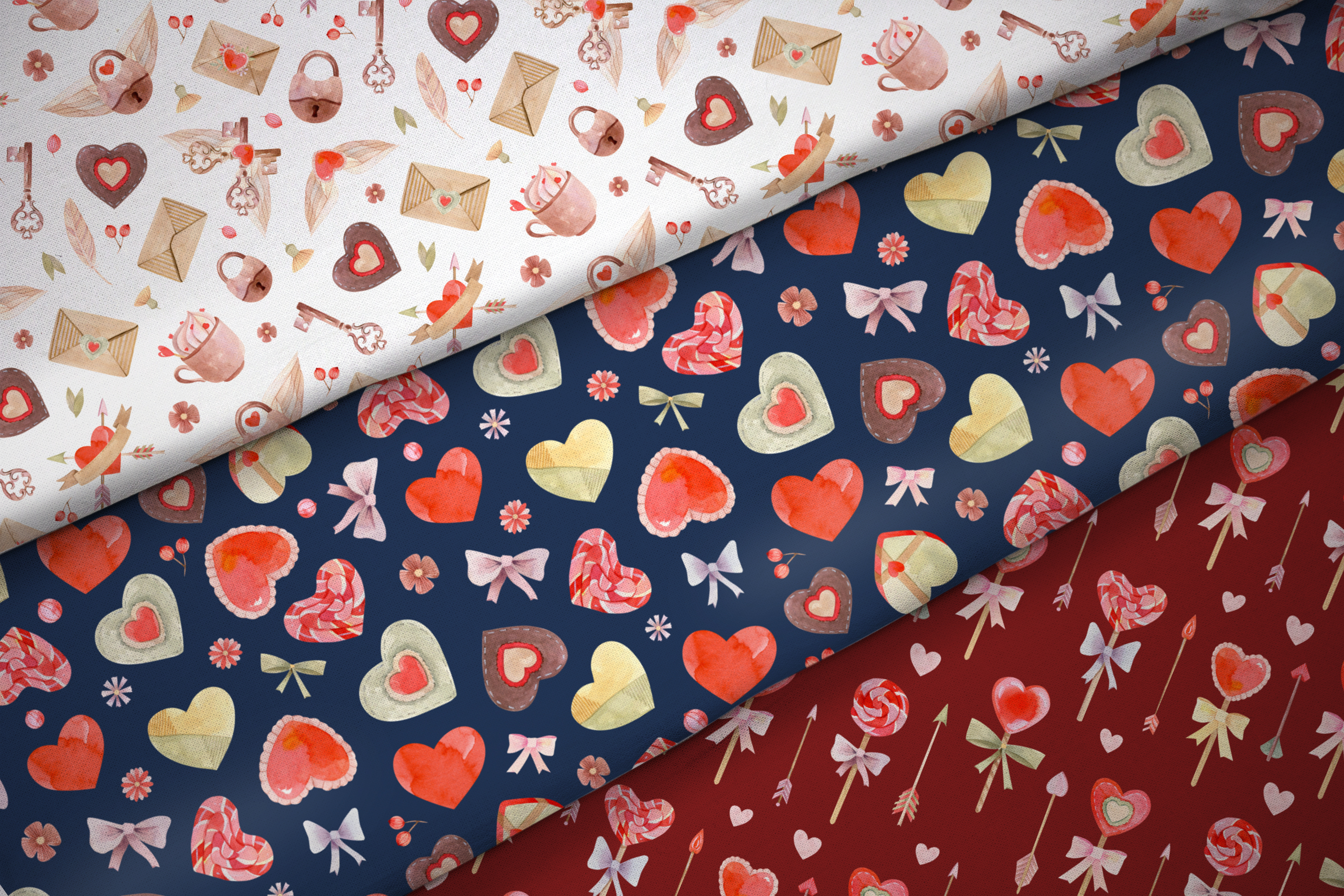 Valentines Day Seamless Patterns example image 10