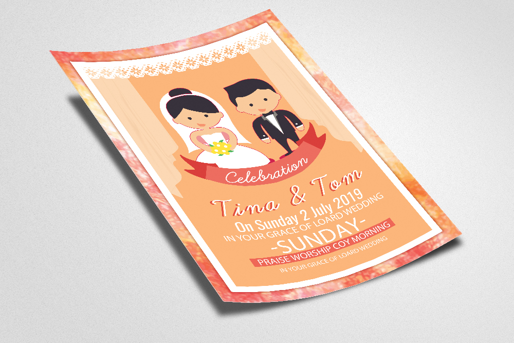 The Wedding Invitation Flyer Template example image 2