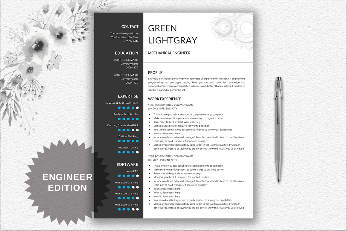 resume template engineer