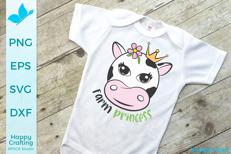 Farm Princess - Adorable Cow svg file example image 1