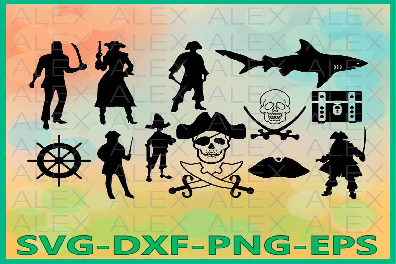 Pirate svg, Pirate Silhouette, Pirate Clipart, Pirate Vinyl example image 1