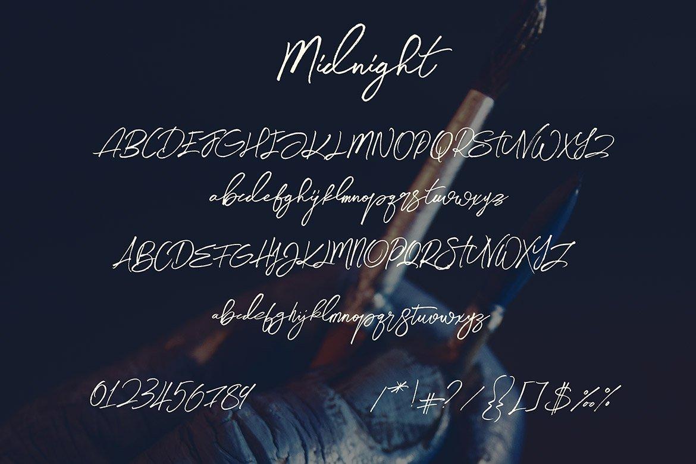 Midnight Brush & SVG Font example image 17