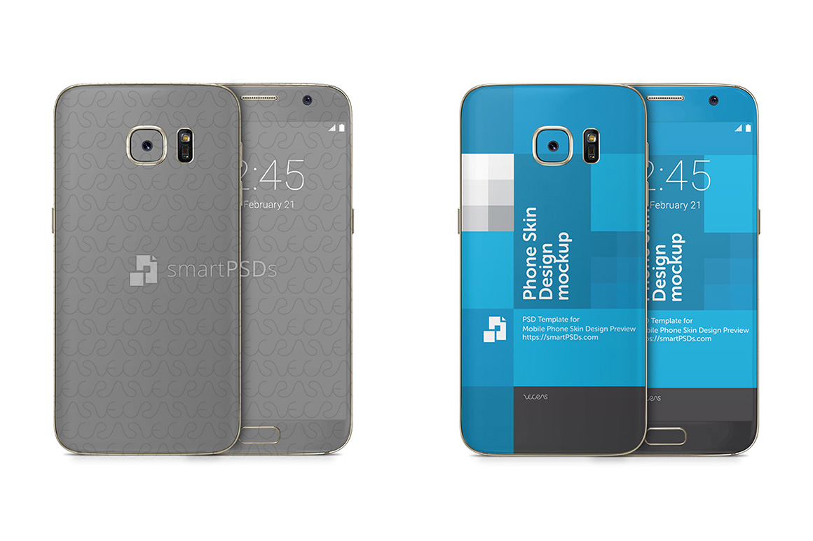 Samsung Galaxy S7 Mobile Skin Design Template example image 1