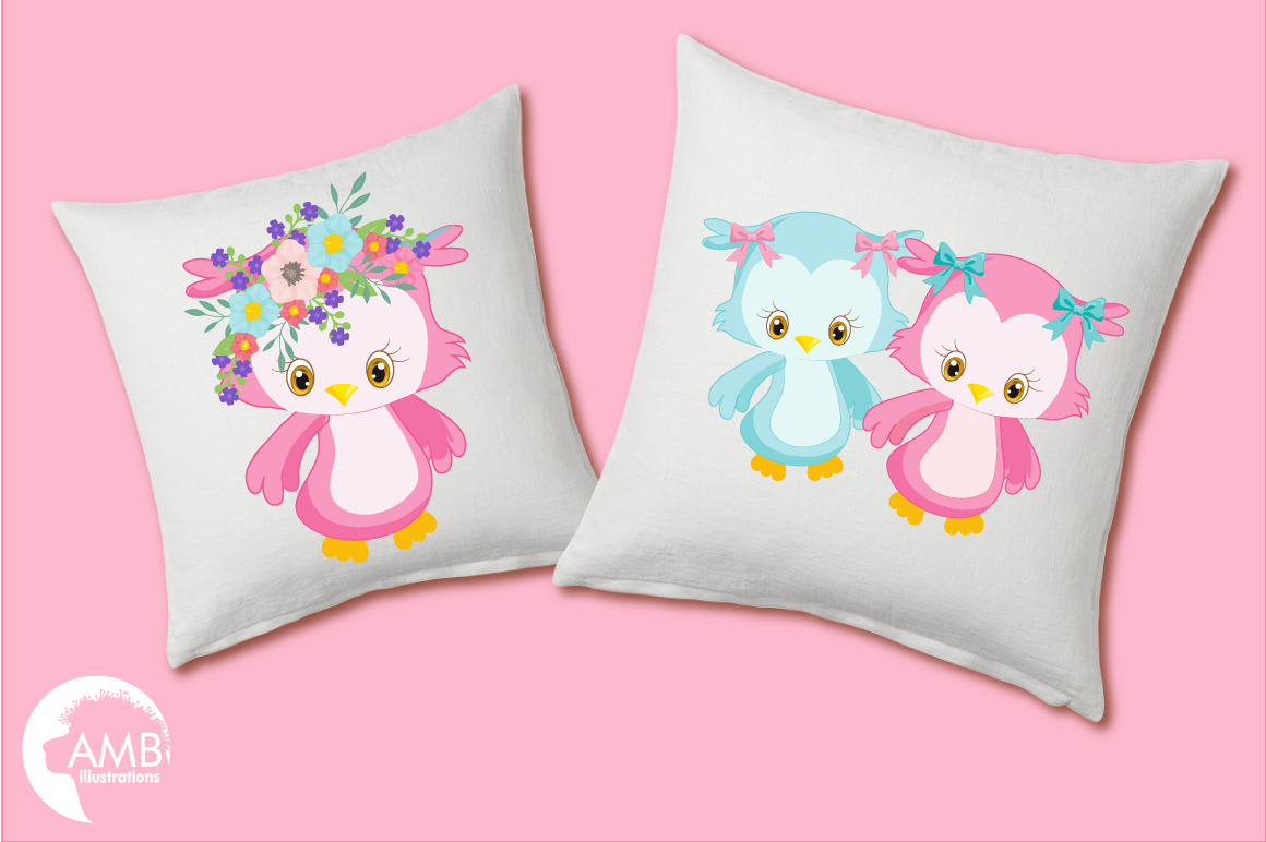 Enchanted Owls cliparts, graphics illustrations AMB-1392 example image 5