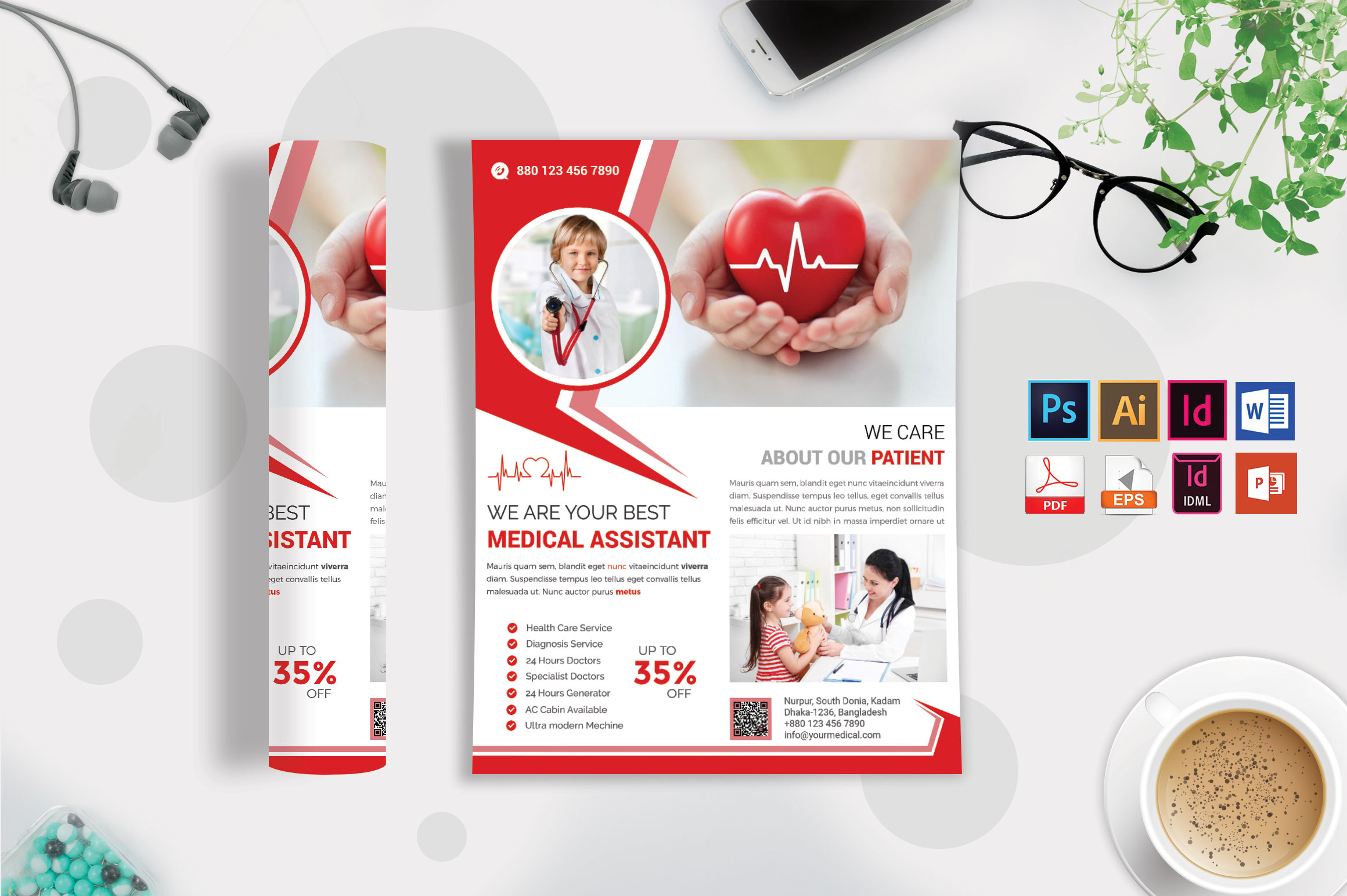 Doctor & Medical Flyer. Vol-09 example image 3