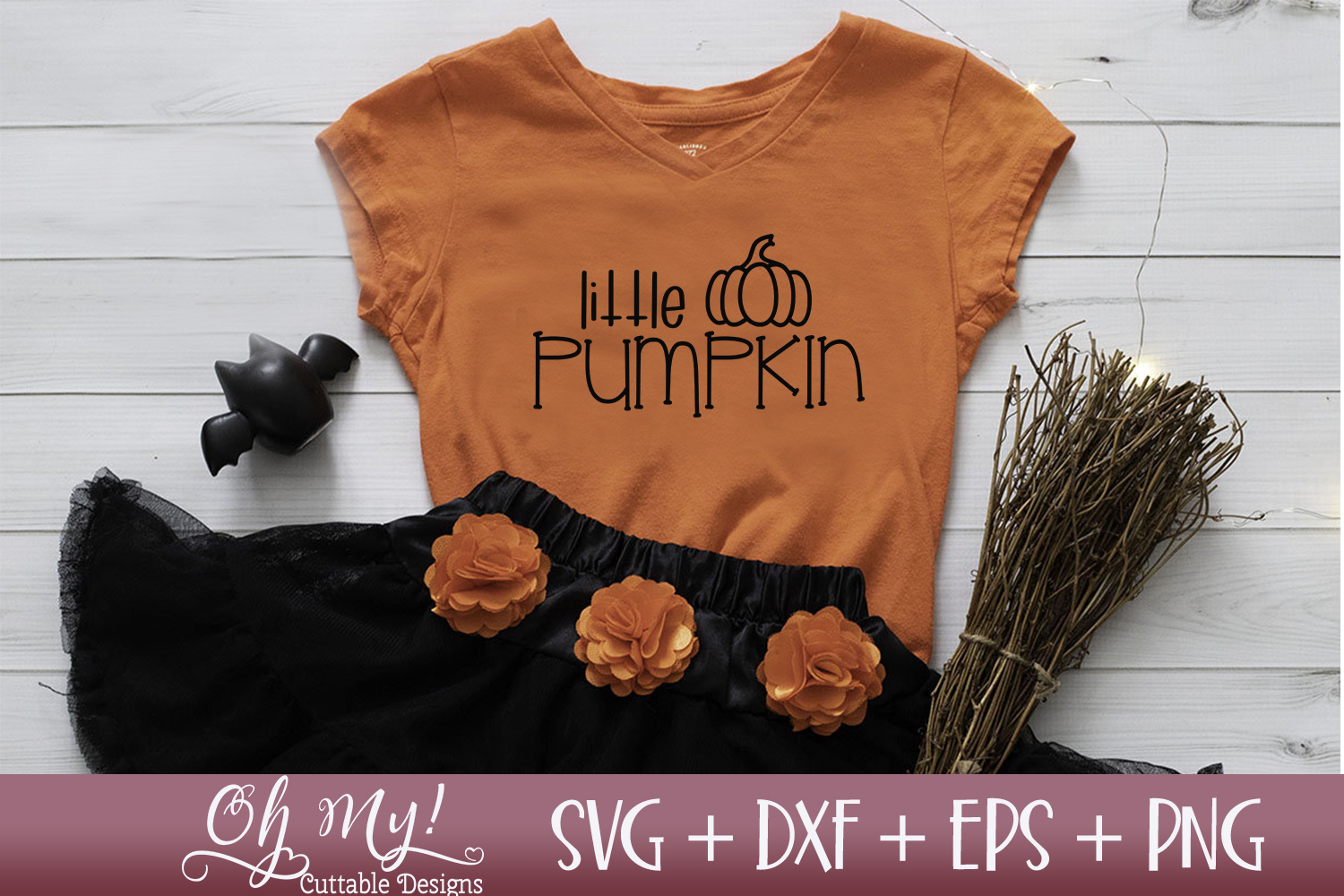 Little Pumpkin - SVG DXF EPS PNG example image 2