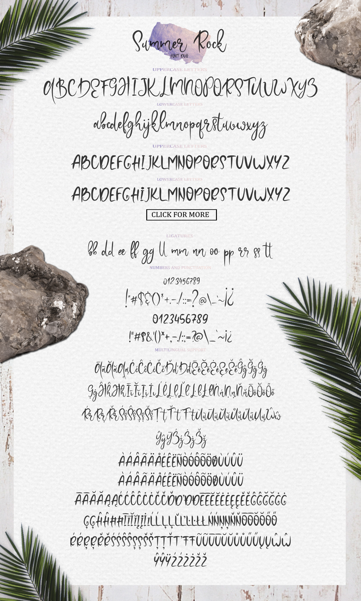 Summer Rock. Font duo example image 6