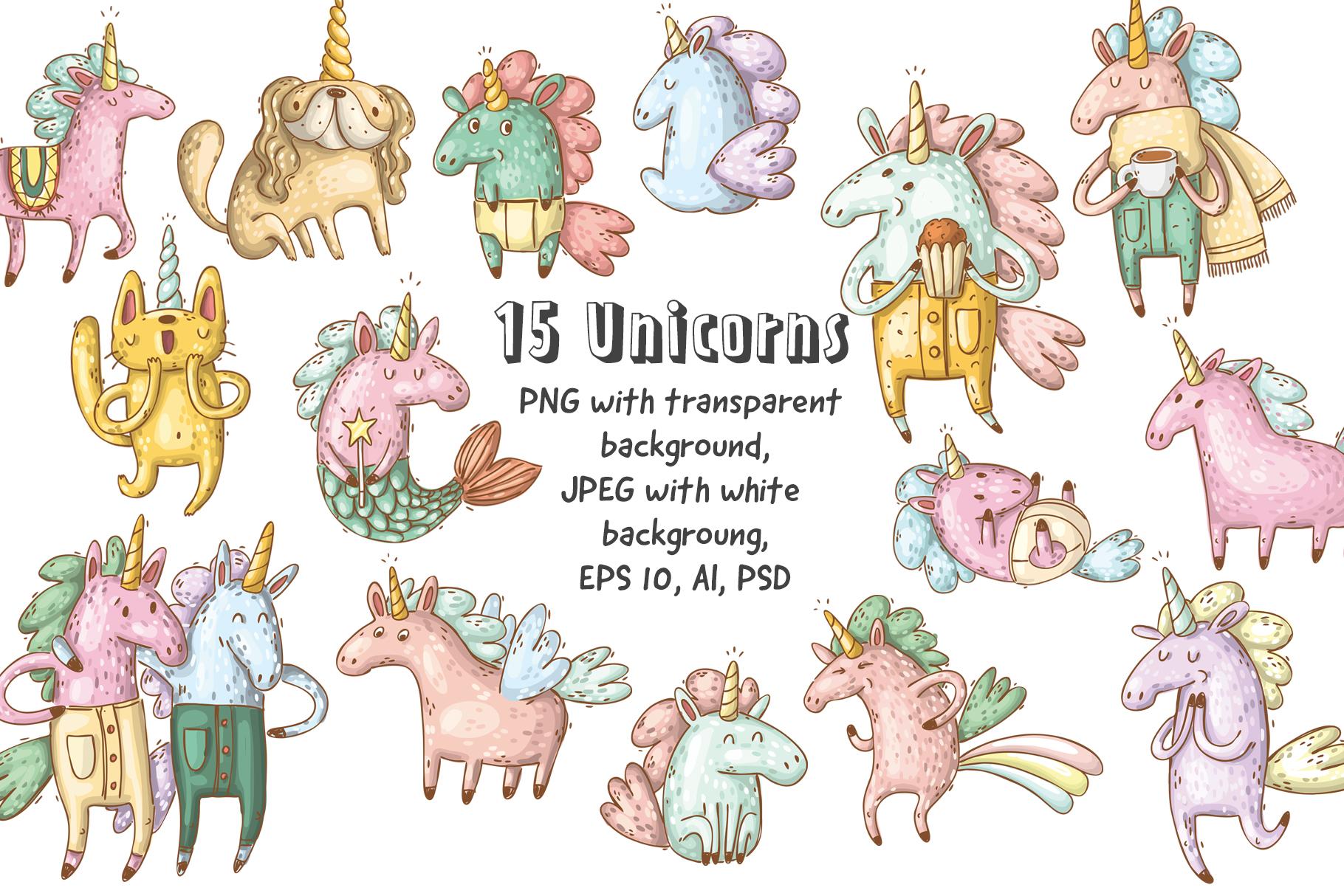 Magical unicorns set example image 2