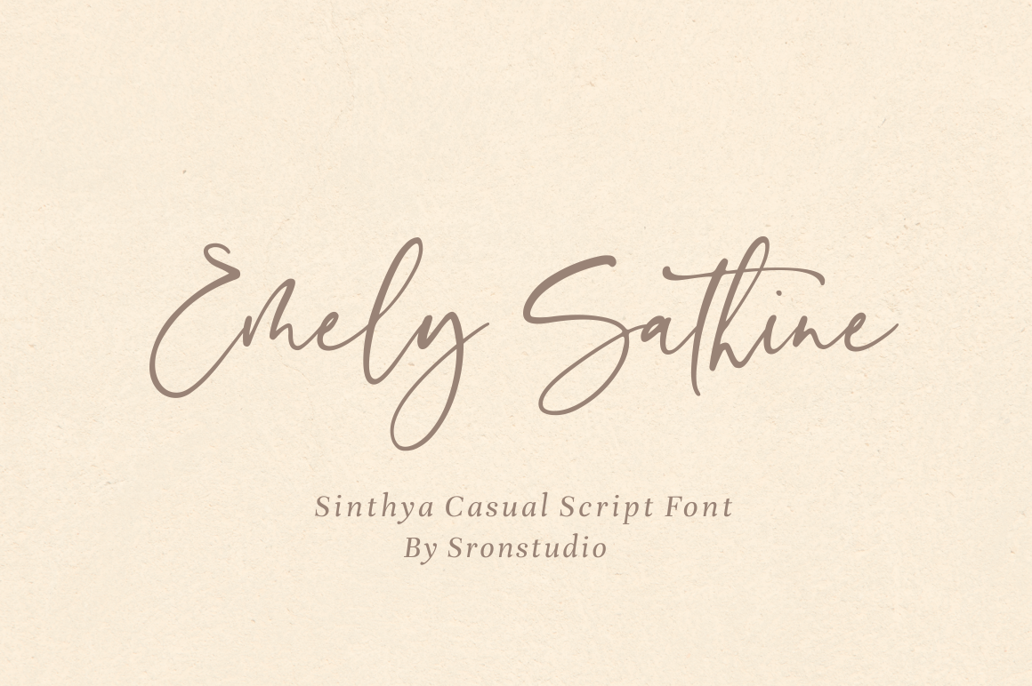 Sinthya - Casual Script Font example image 7