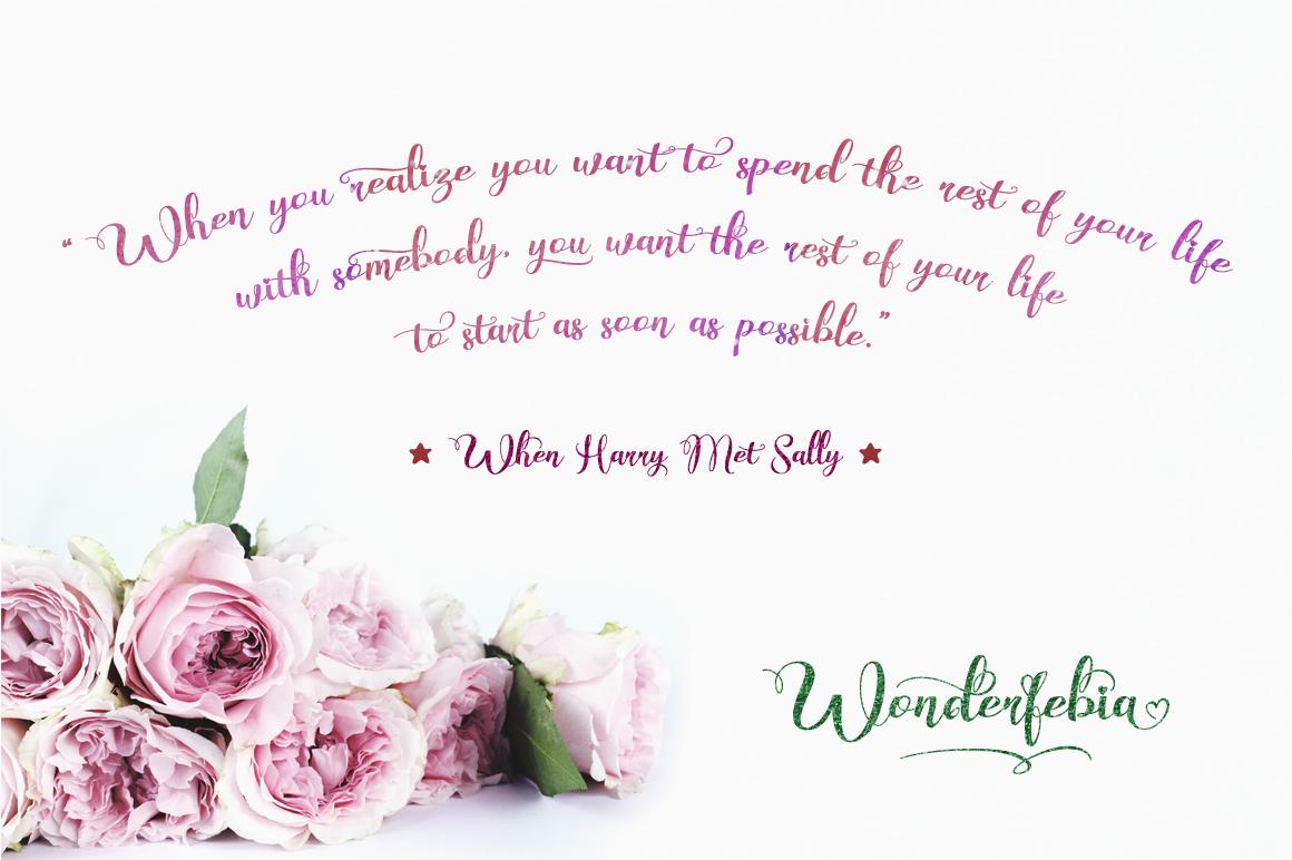 Wonderfebia - Script Wedding Font example image 3