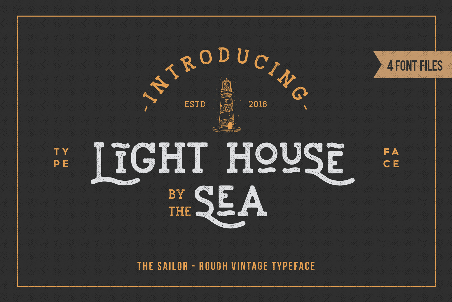 LightHouse - Vintage Sailor Rough Typeface example image 1