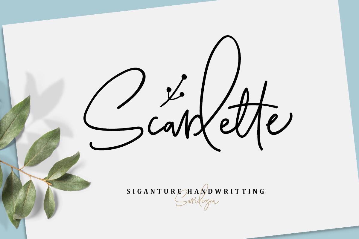 Scarlette Script example image 1