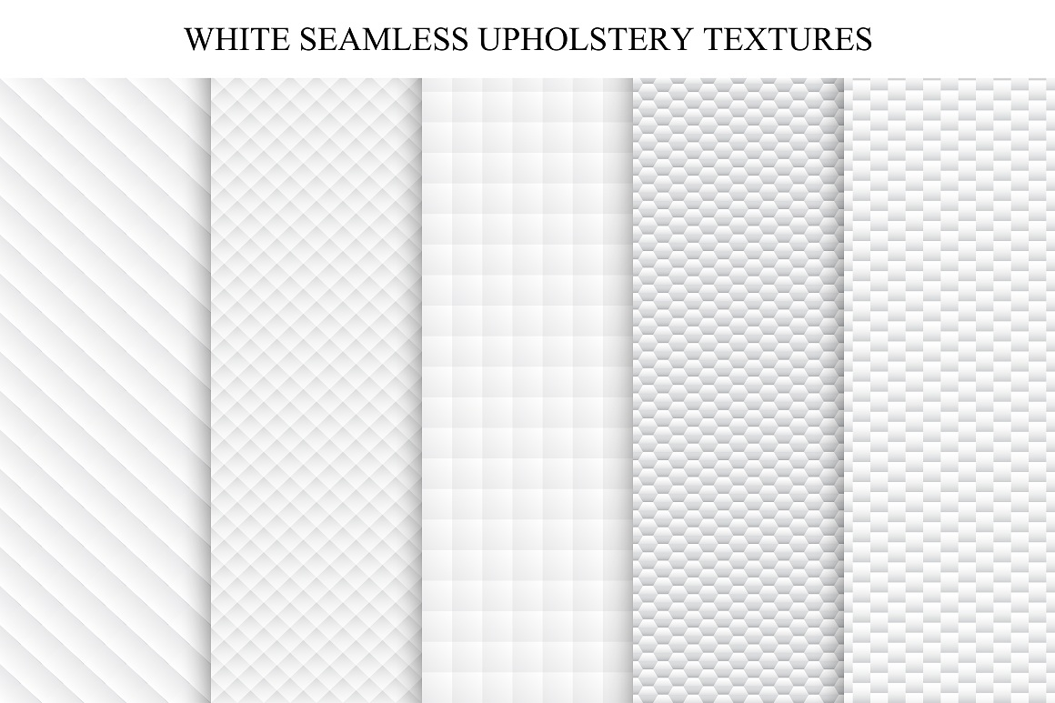 White seamless textures - soft set example image 1