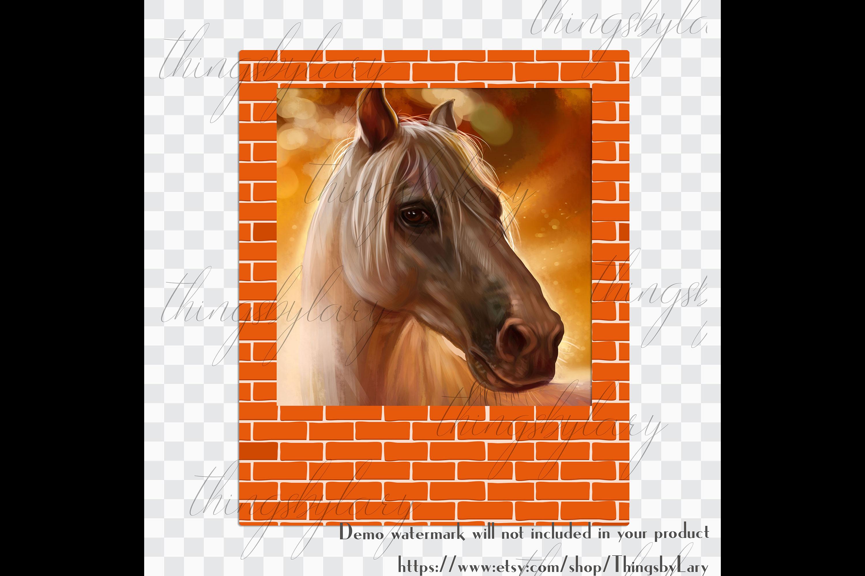 254 Brick Wall Polaroid Photo Booth Baby Shower Photo Frames example image 6