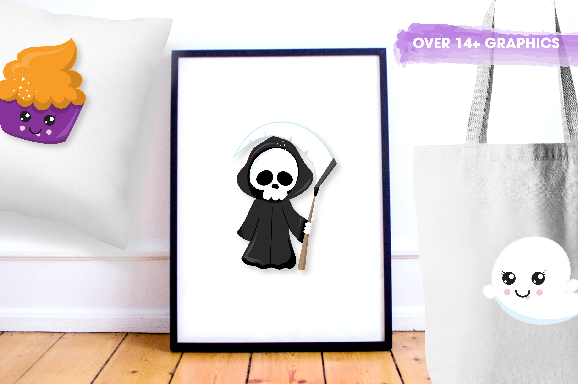 spooky reaper graphics and illustrations example image 4