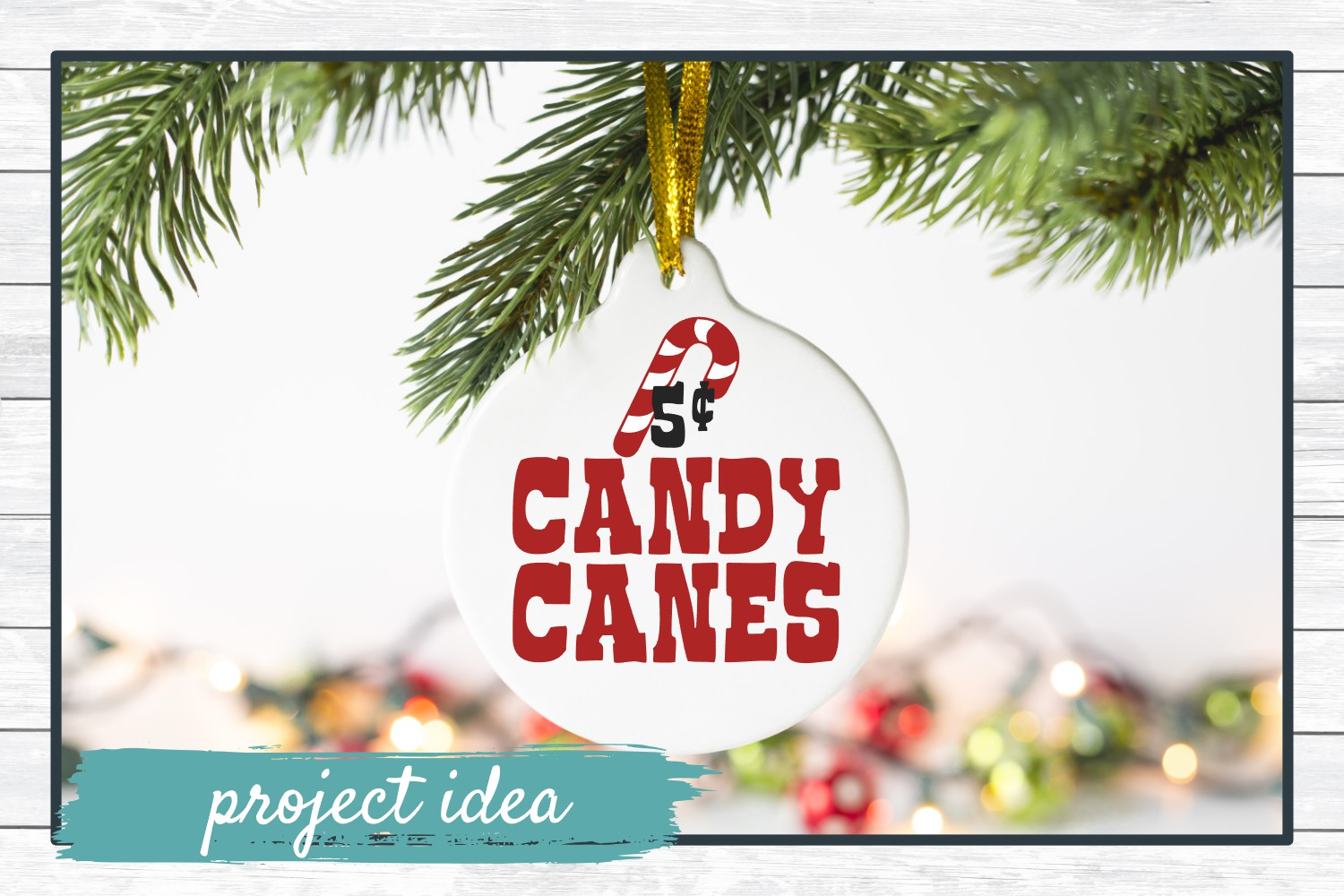 Candy Canes 5 Cents, Christmas Winter Holiday SVG Cut File example image 2