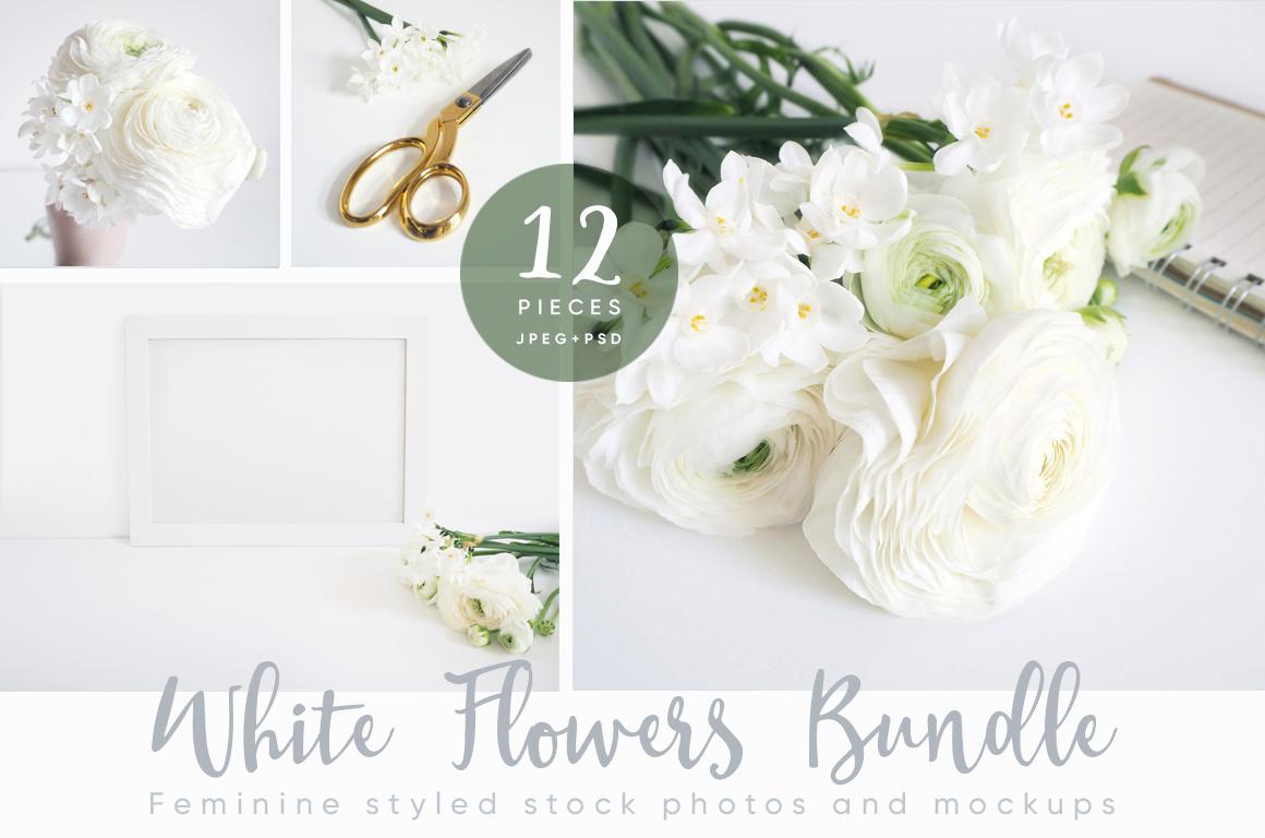 The White Flowers mock ups & photos bundle example image 1