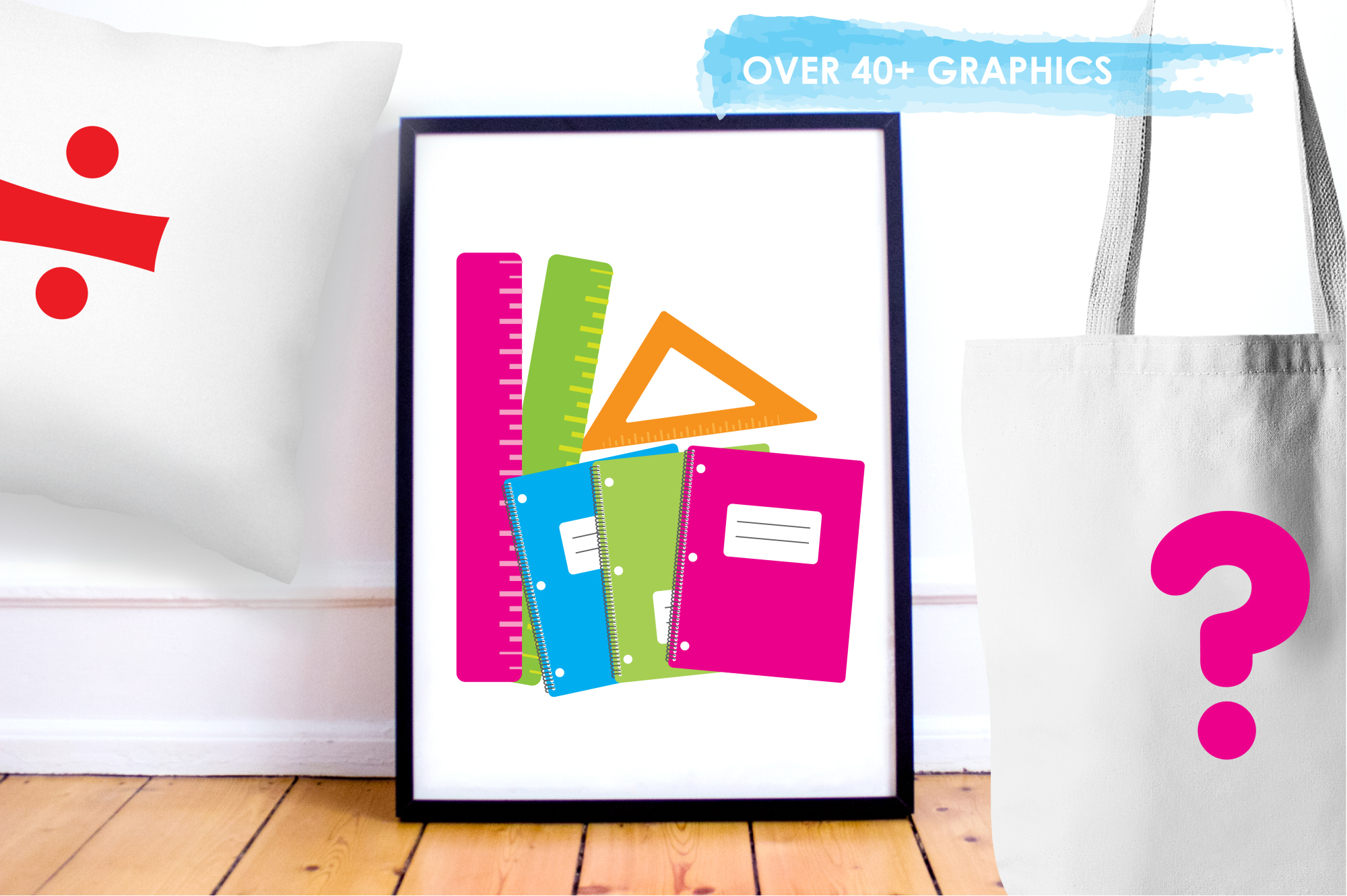 School Supplies graphics and illustrations example image 5