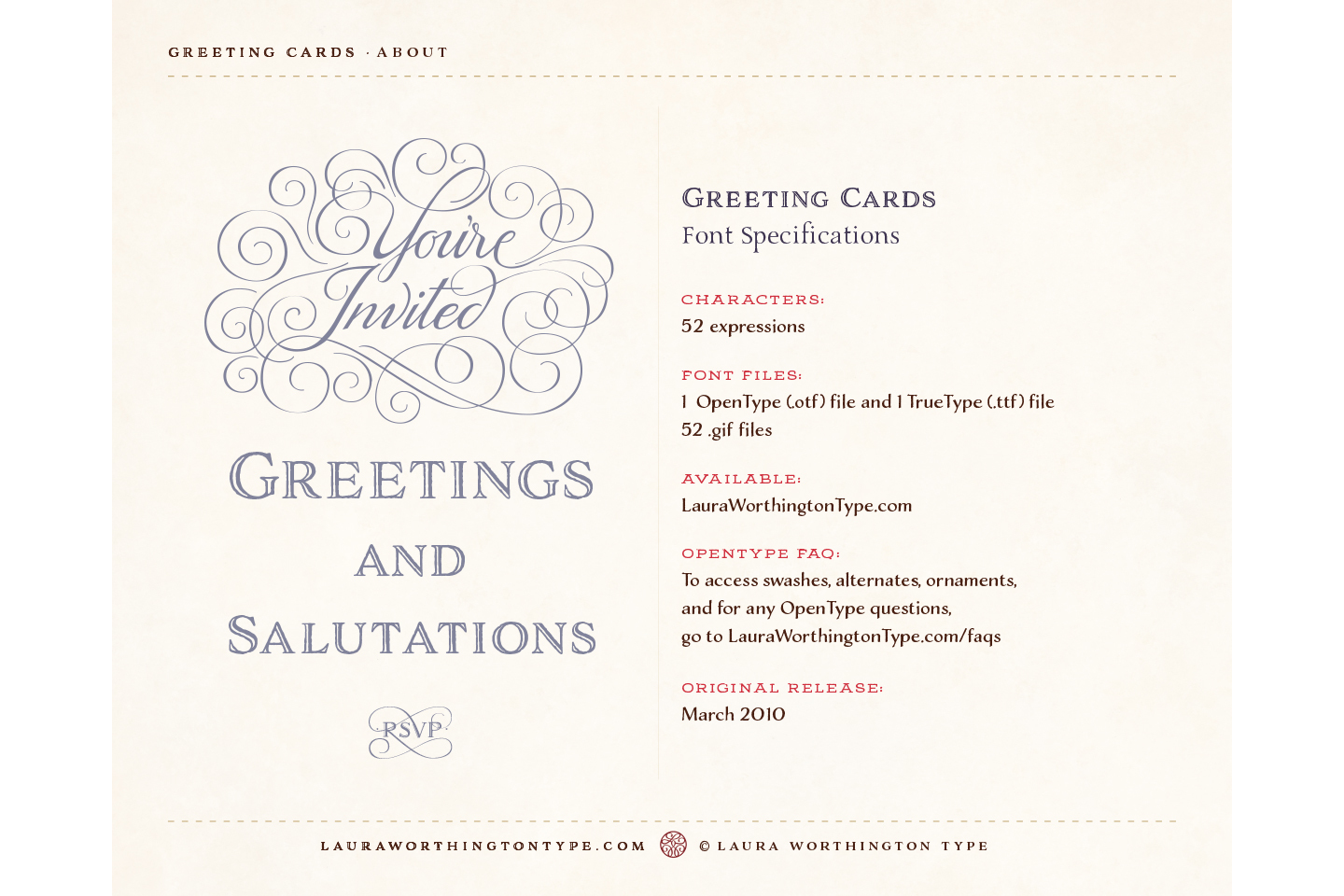 Greeting cards by laura worthington type font bundles greeting cards example image 4 m4hsunfo