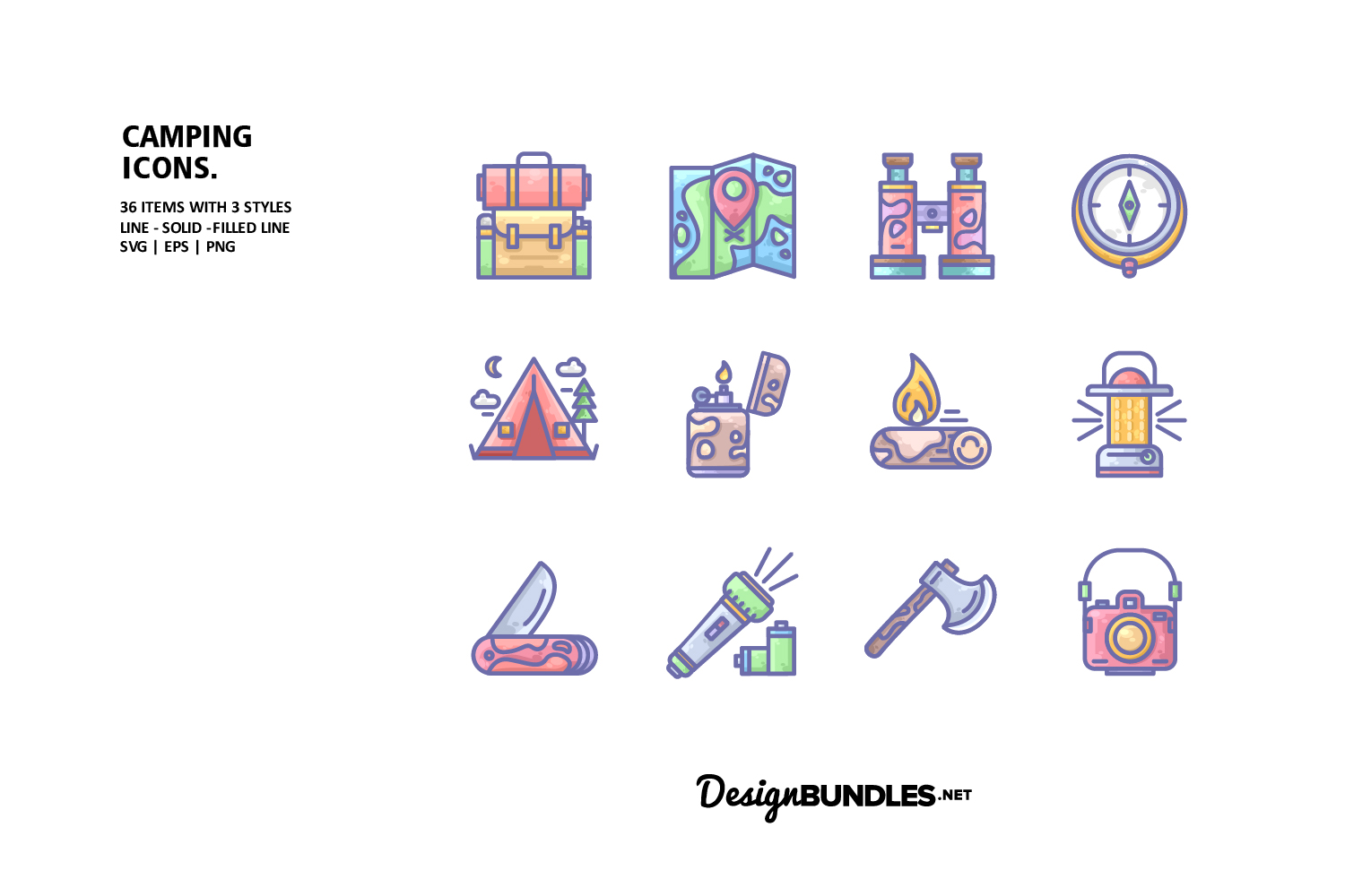 Camping Icons example image 1