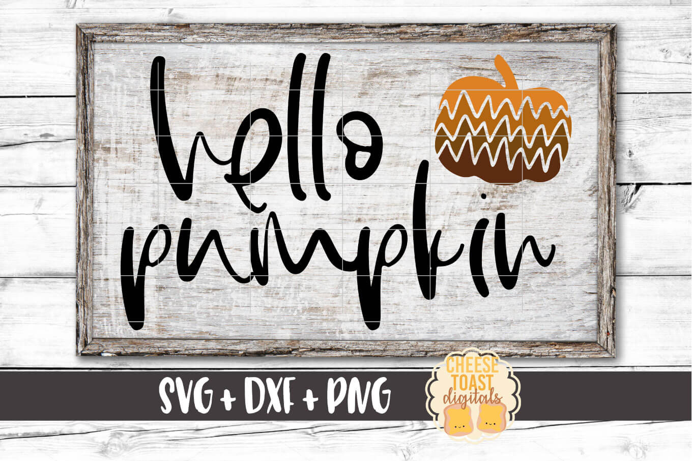 Hello Pumpkin - Fall SVG File - Pumpkin SVG example image 1