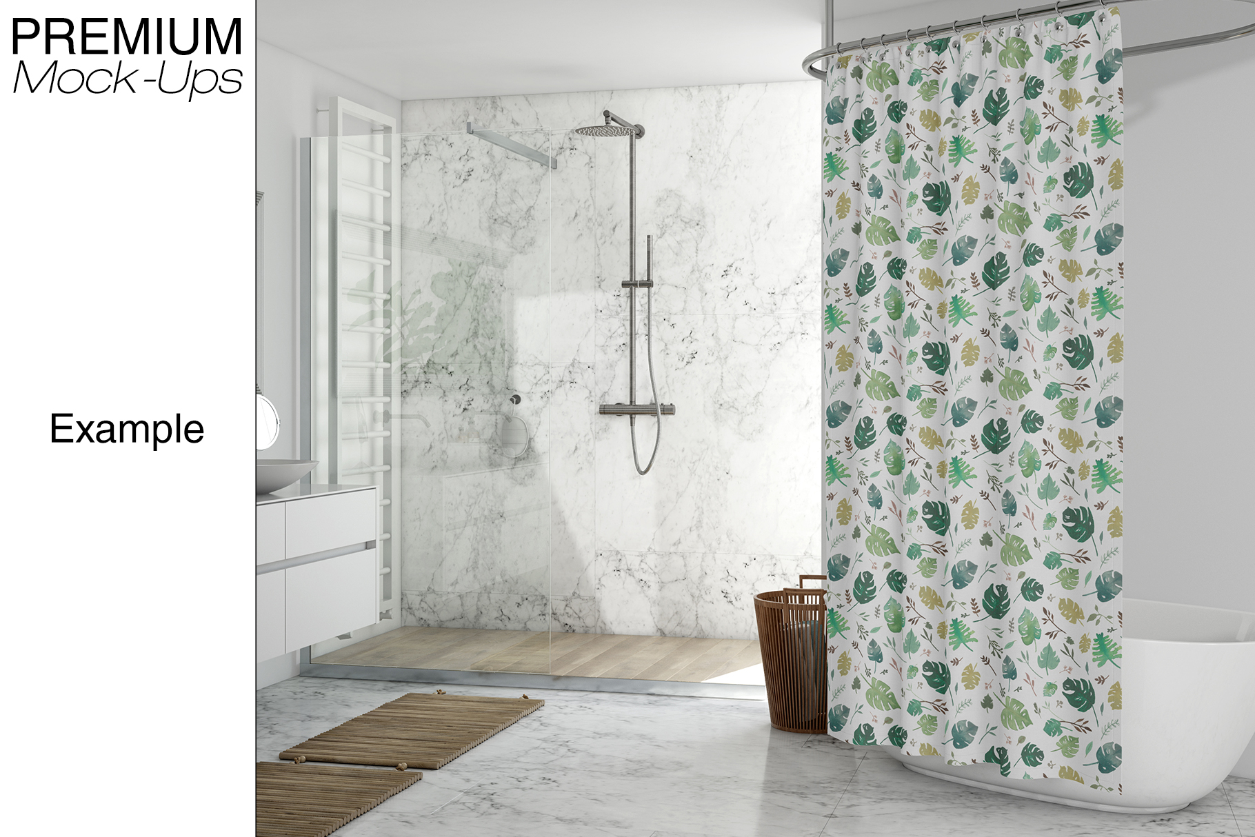 Bath Curtain Mockup Pack example image 13