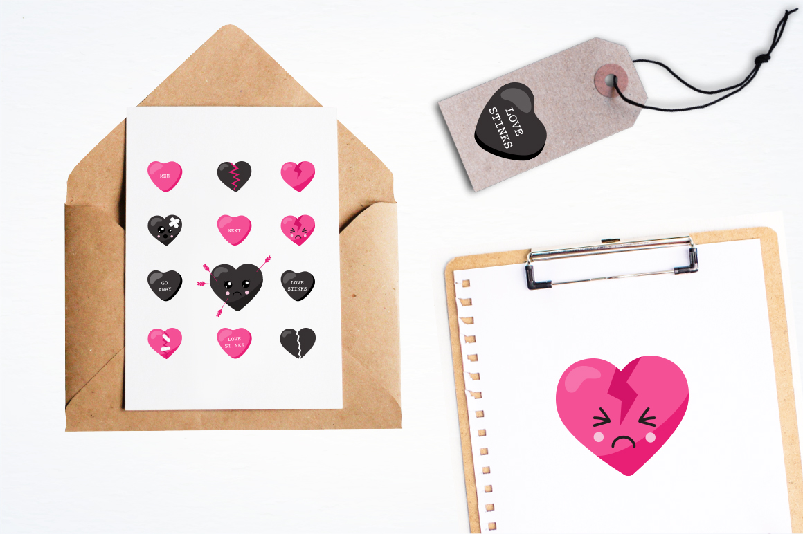 Broken Heart graphic and illustrations example image 4