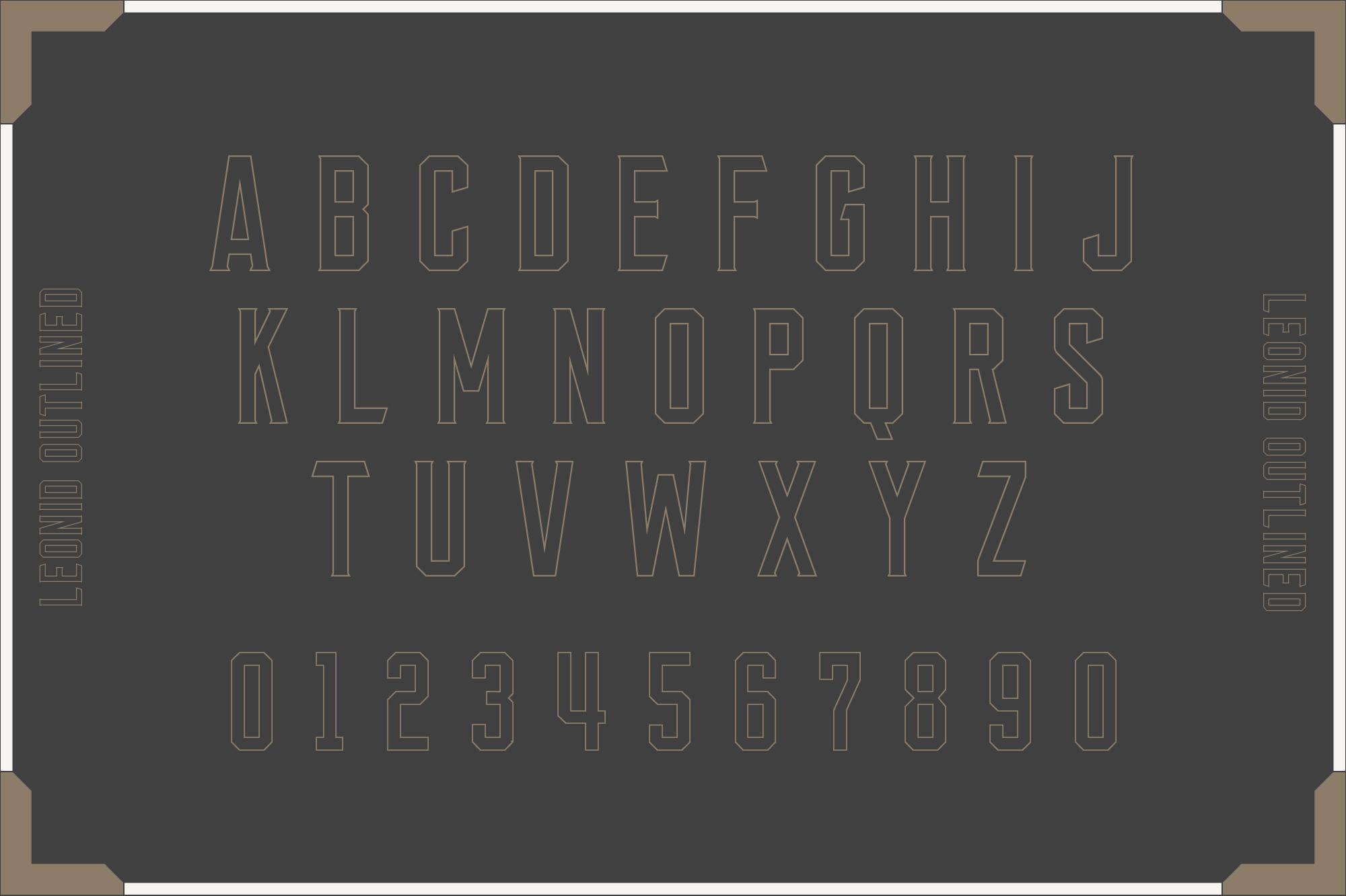 Leonid Retro Layered Font Pack example image 5