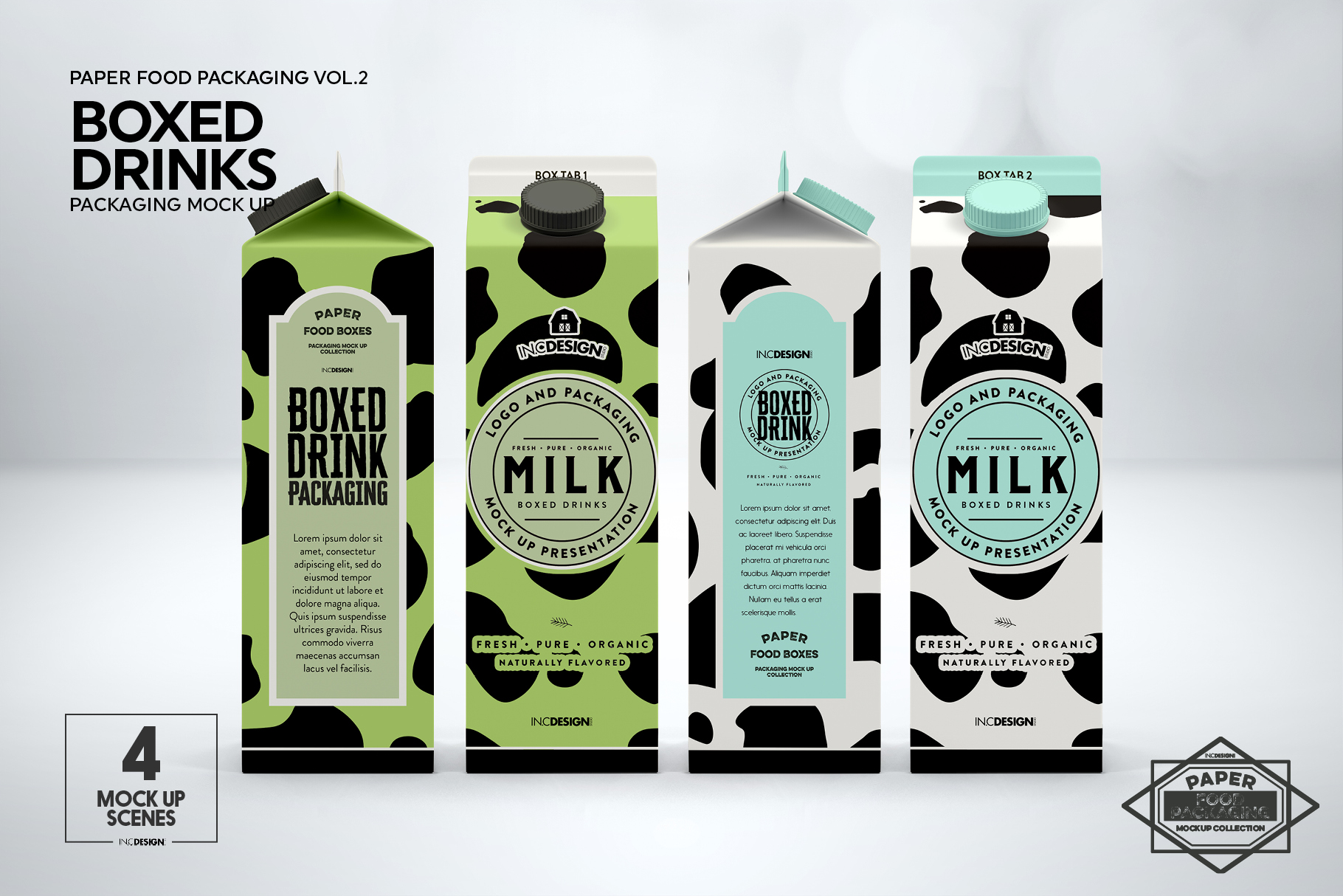 Boxed Drink Liquid Packaging Mockups example image 5