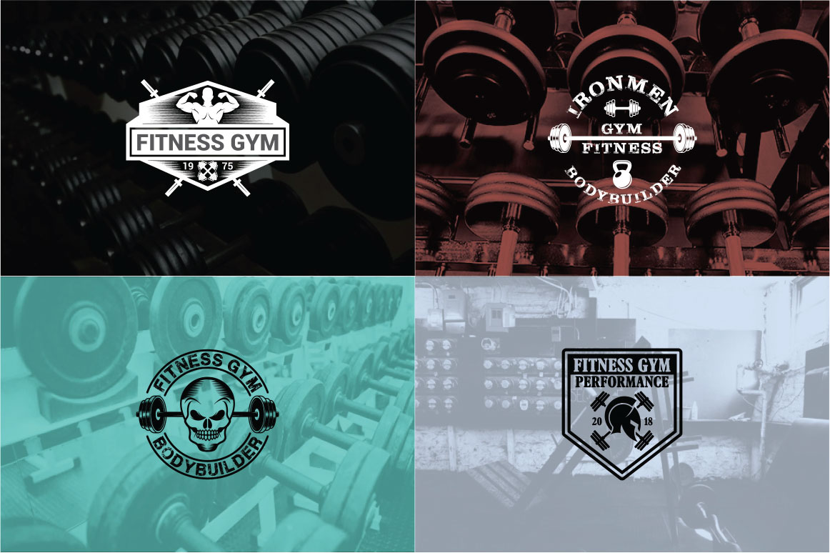 83 fitness gym bundle Logos Labels & Badges example image 18