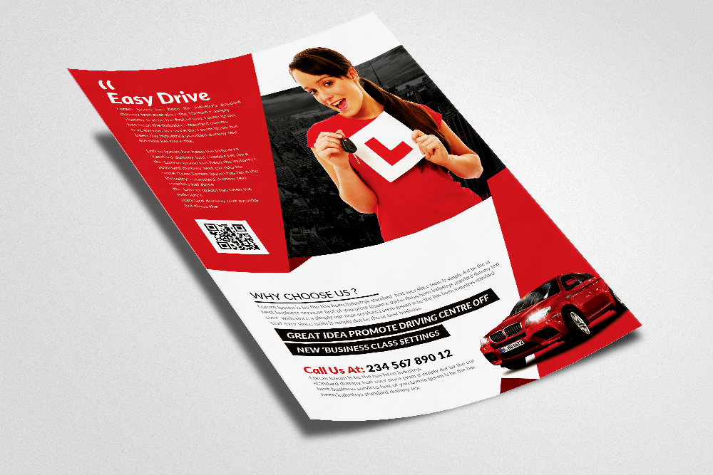 Driving School Flyers Templates Vol 7 example image 3