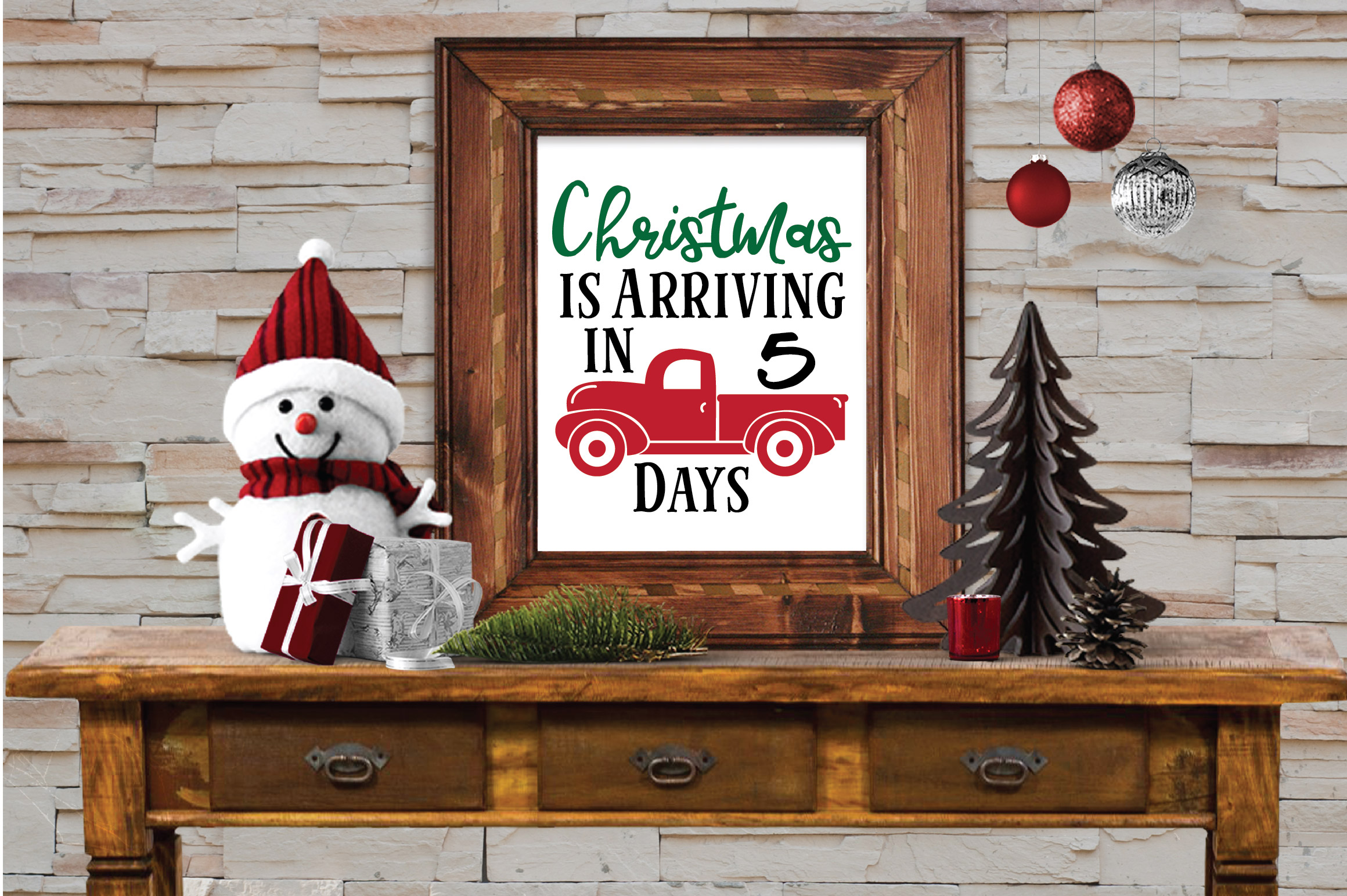 Christmas SVG Bundle with 10 Christmas Countdown Cut Files example image 2