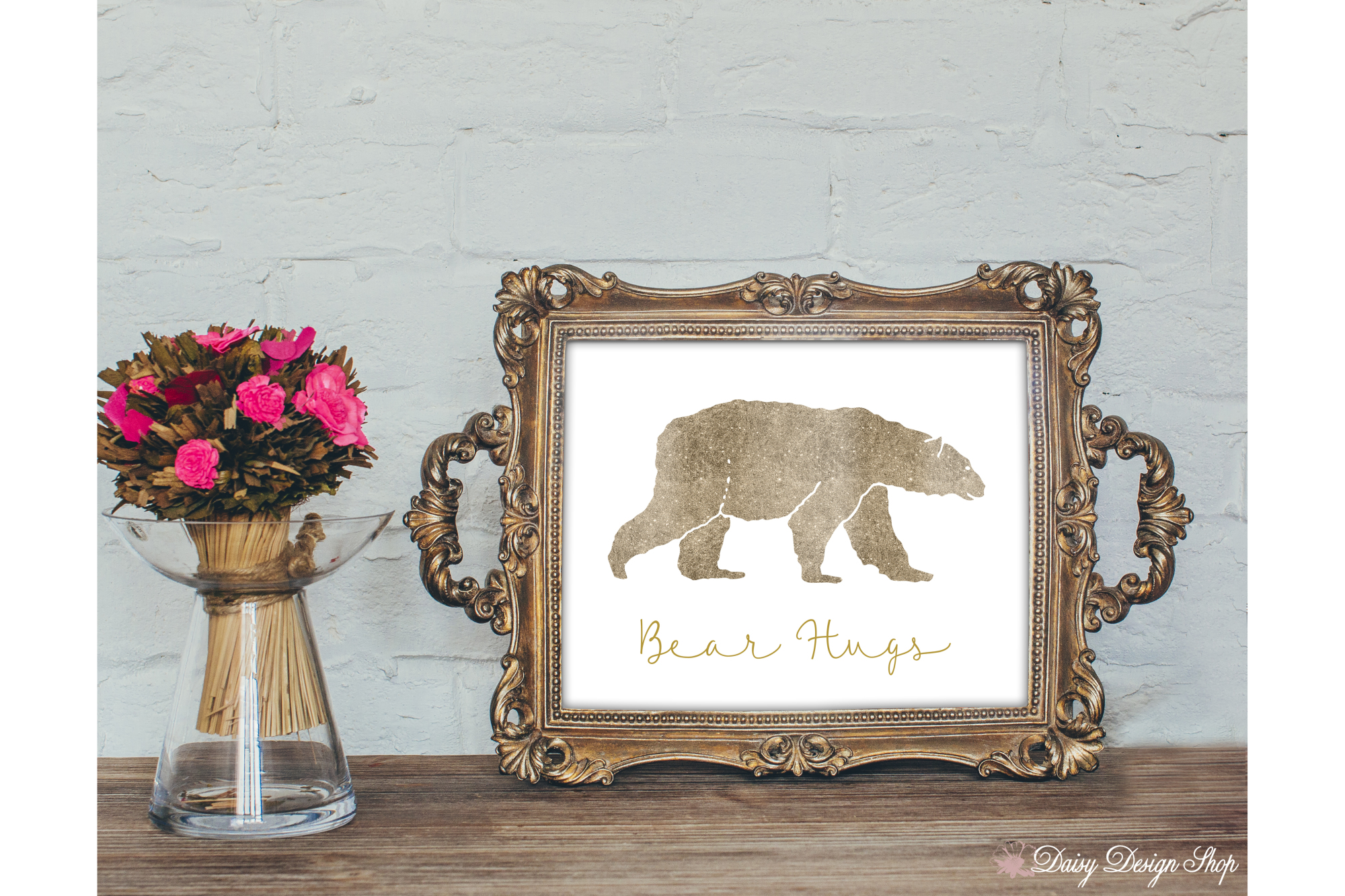 Glitter Bear Art Print - Nursery or Home 8x10 Printable example image 2