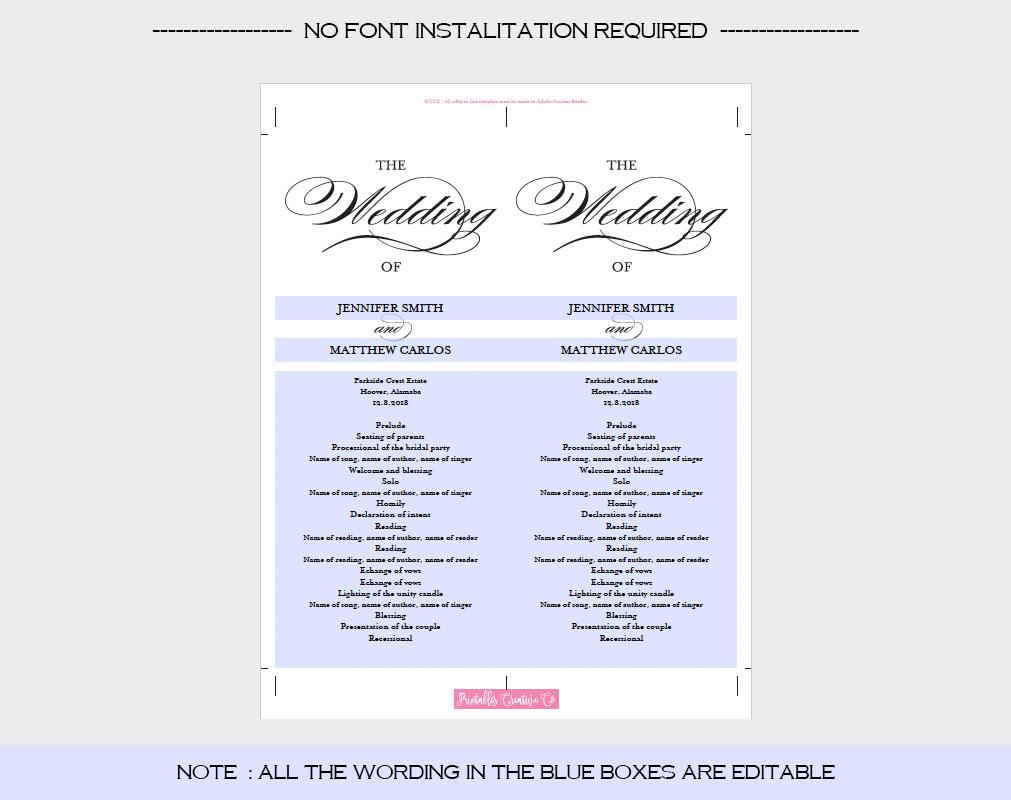 Wedding Program example image 3