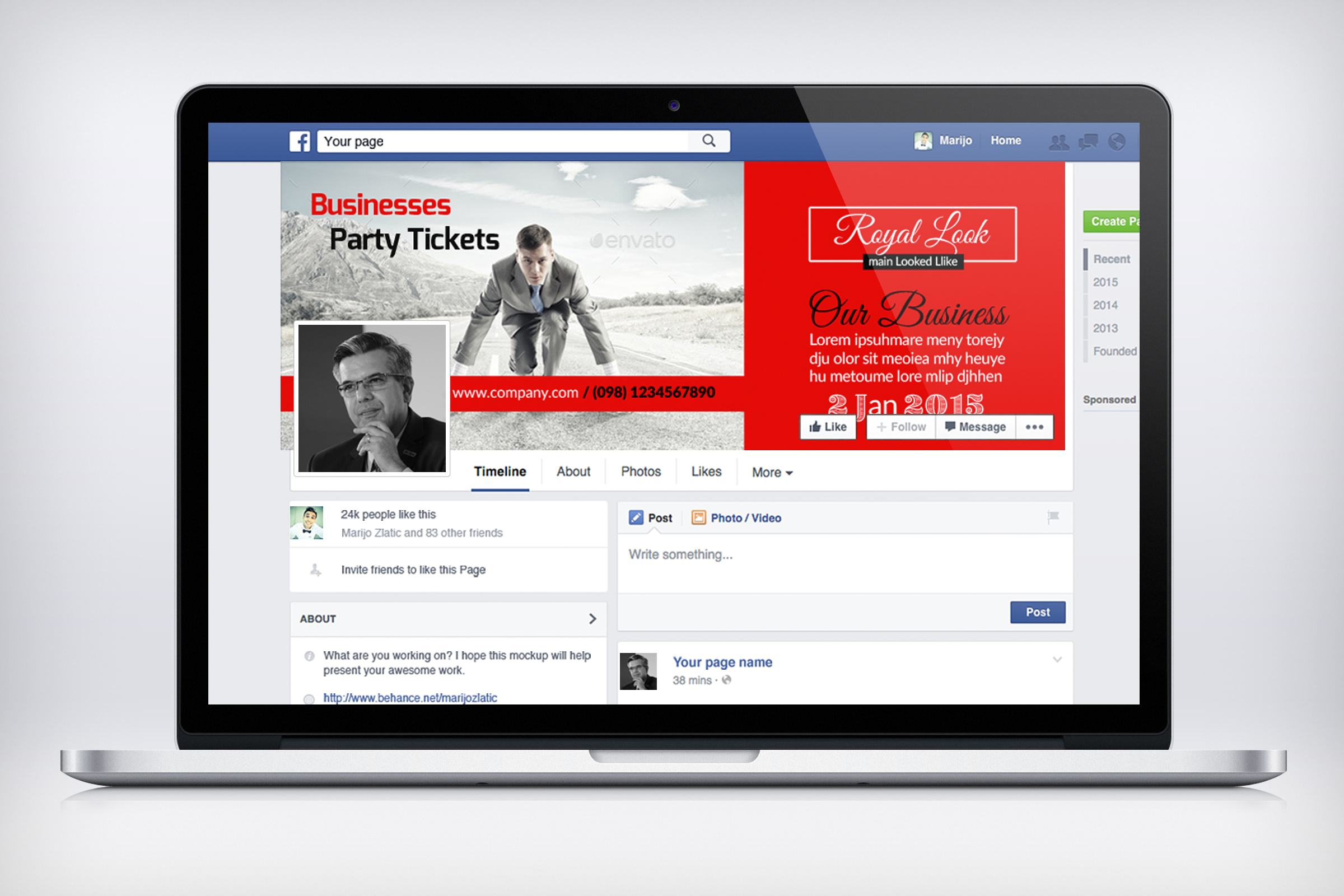 Creative Business Facebook Timeline Cover example image 3