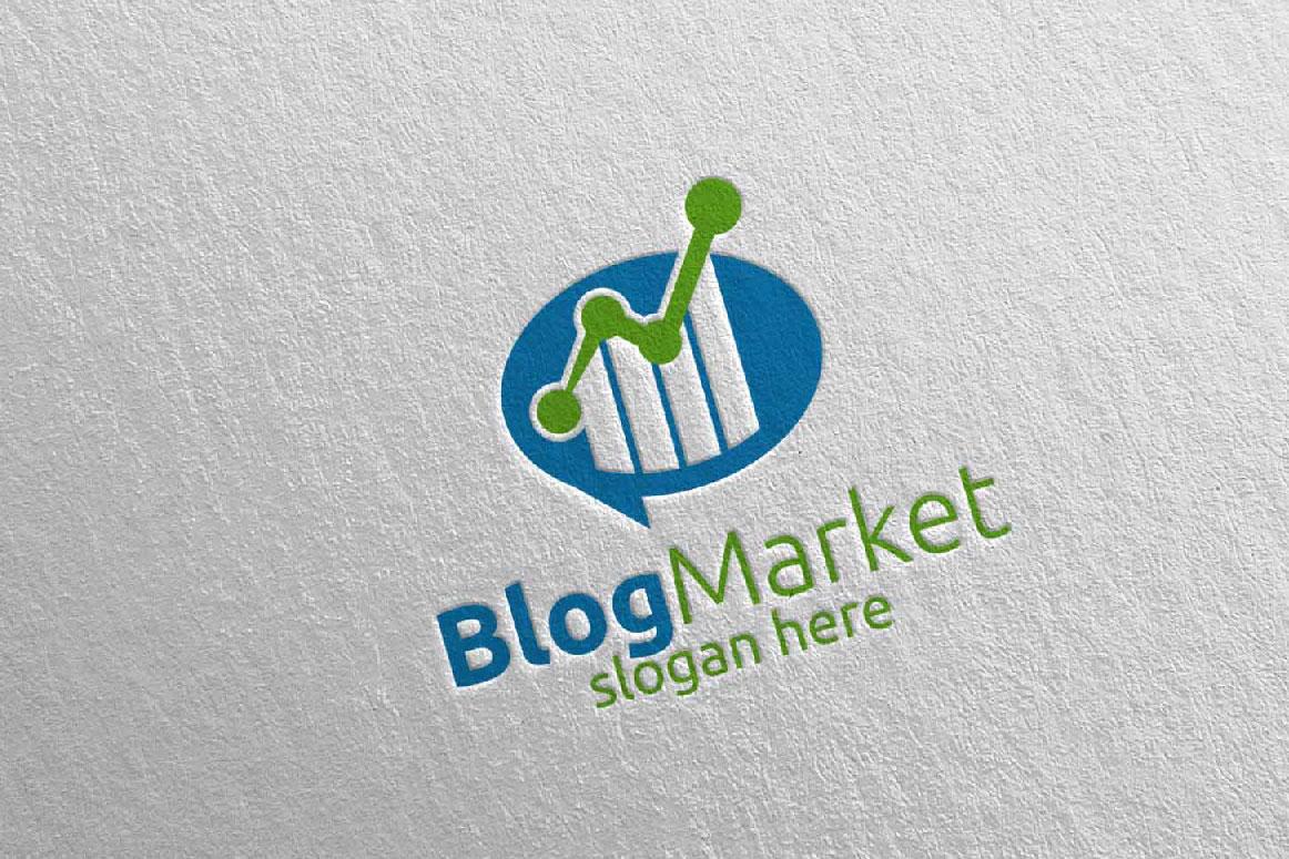 Blog Marketing Financial Advisor Logo Design Template 15 example image 3