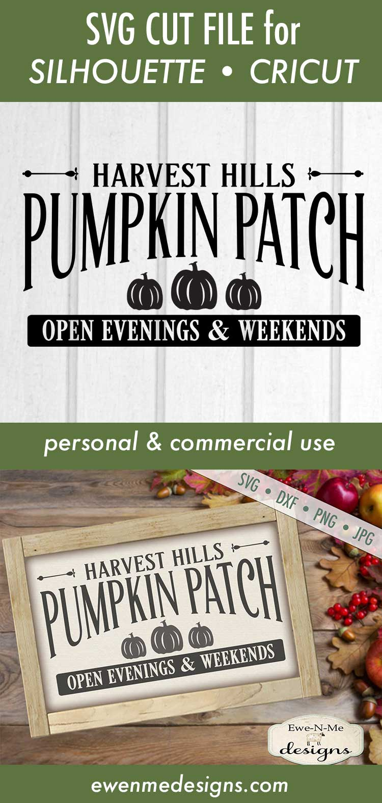 Pumpkin Patch - Harvest - Fall - Autumn - SVG DXF example image 3