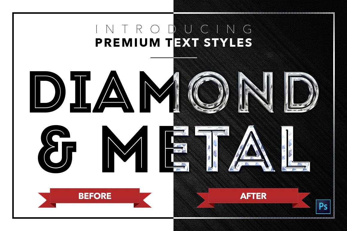 Diamond & Metal #2 - 16 Text Styles example image 18
