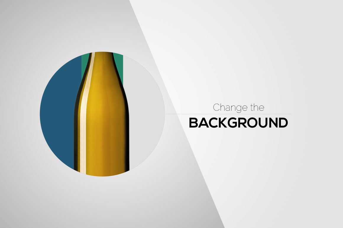 All-In-One Wine Bottle Mockup example image 2