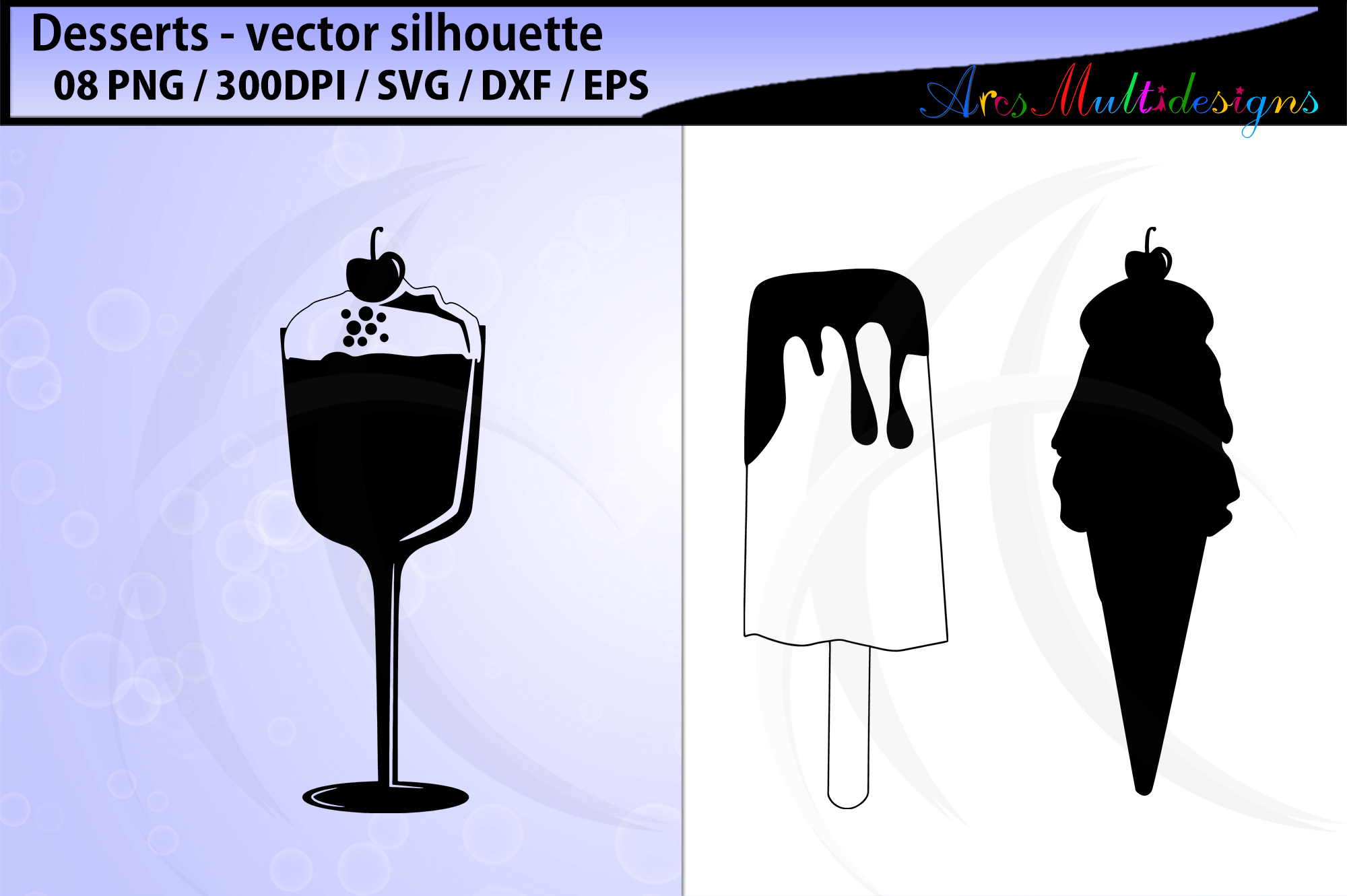 desserts vector svg silhouette example image 2
