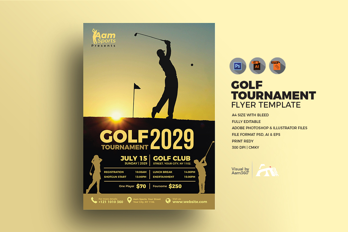 Golf Flyer Template example image 1