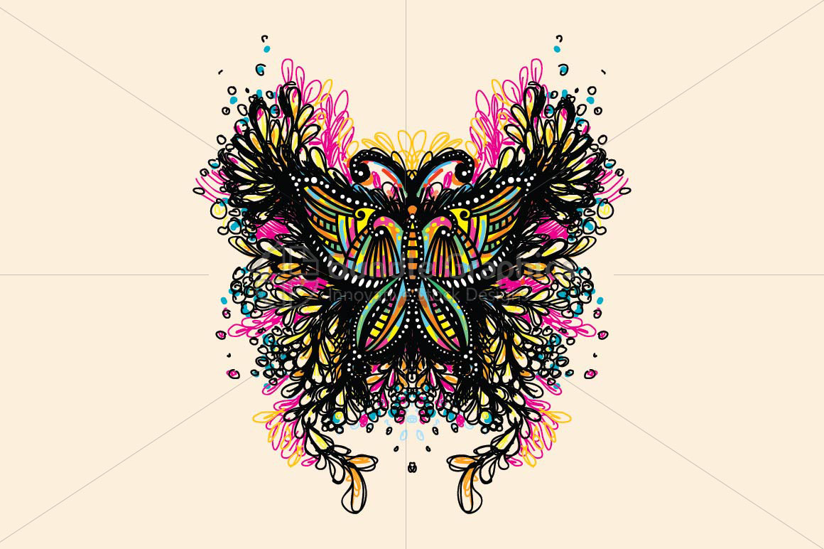 Beautiful Butterfly - Creative Scribble Style Insect example image 2