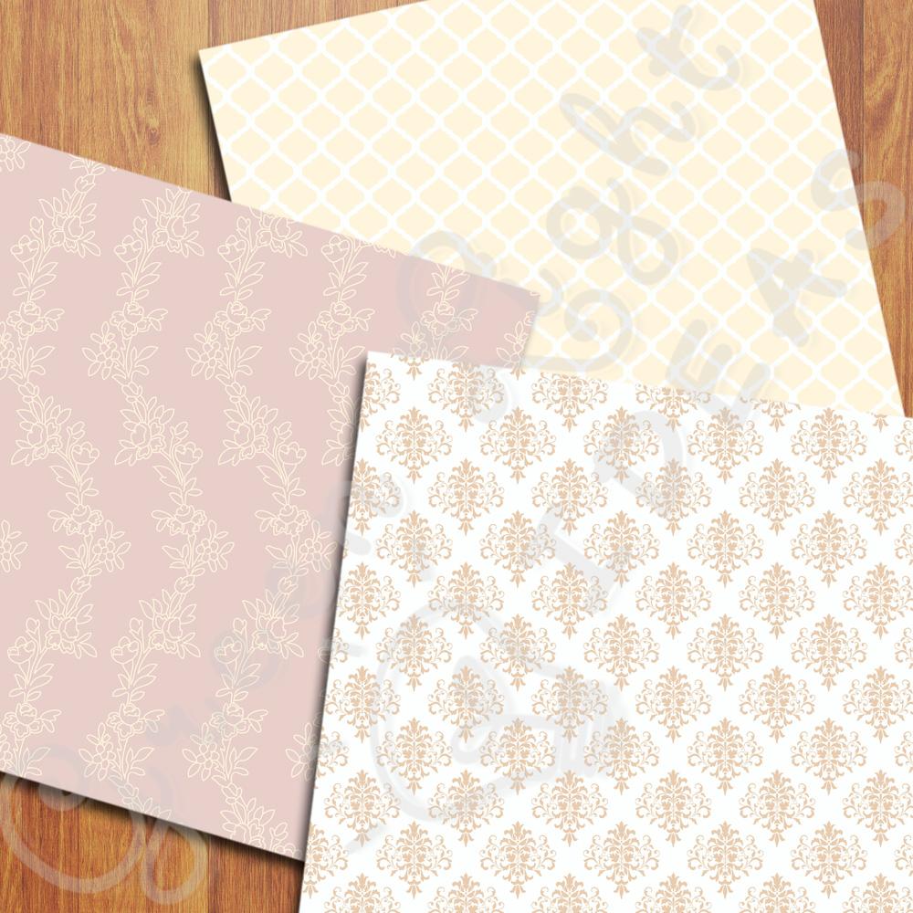 Elegant Wedding Digital Papers example image 4
