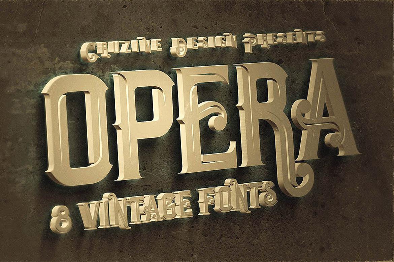 Opera Vintage Typeface example image 5
