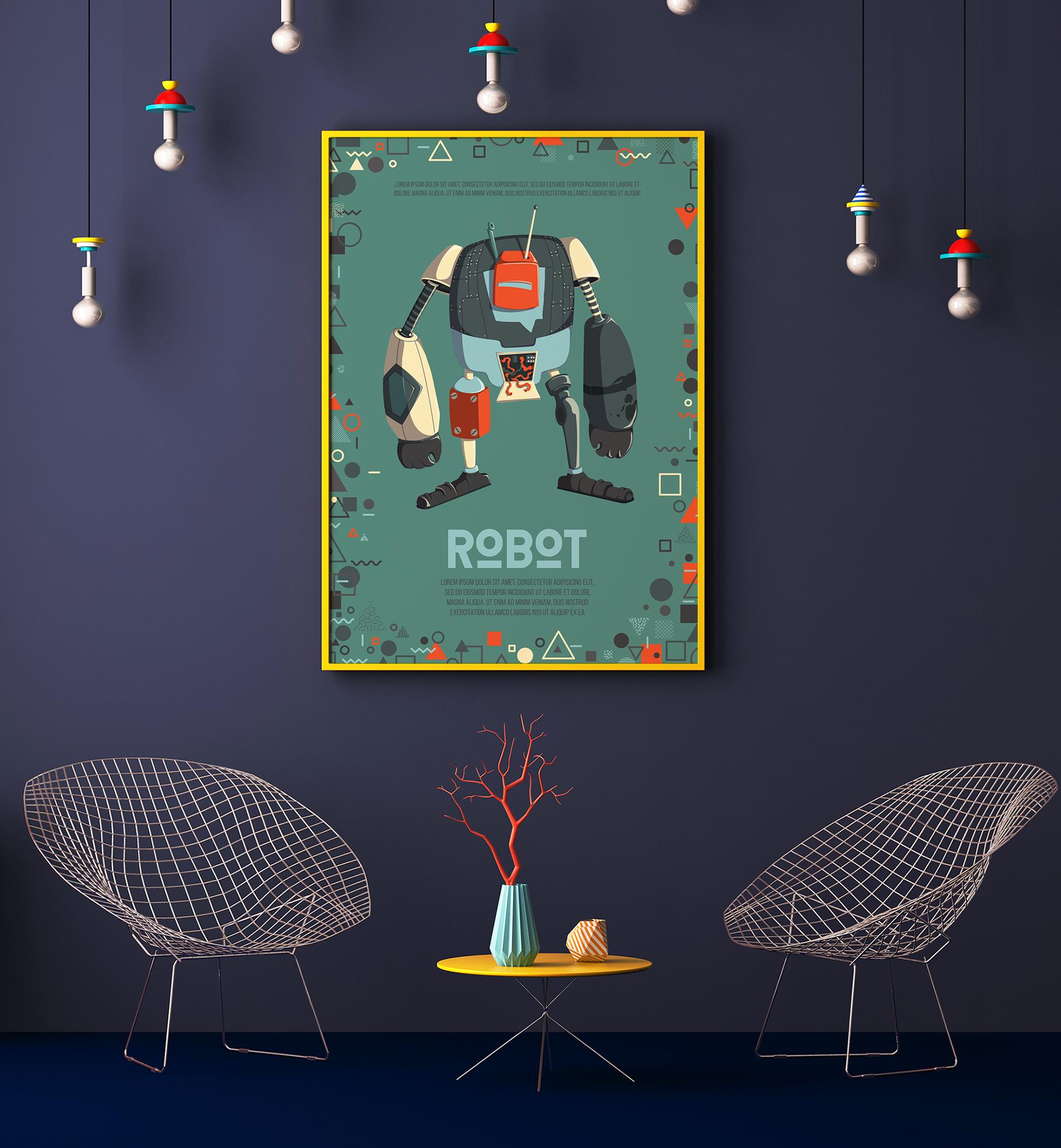 Retro robots example image 2