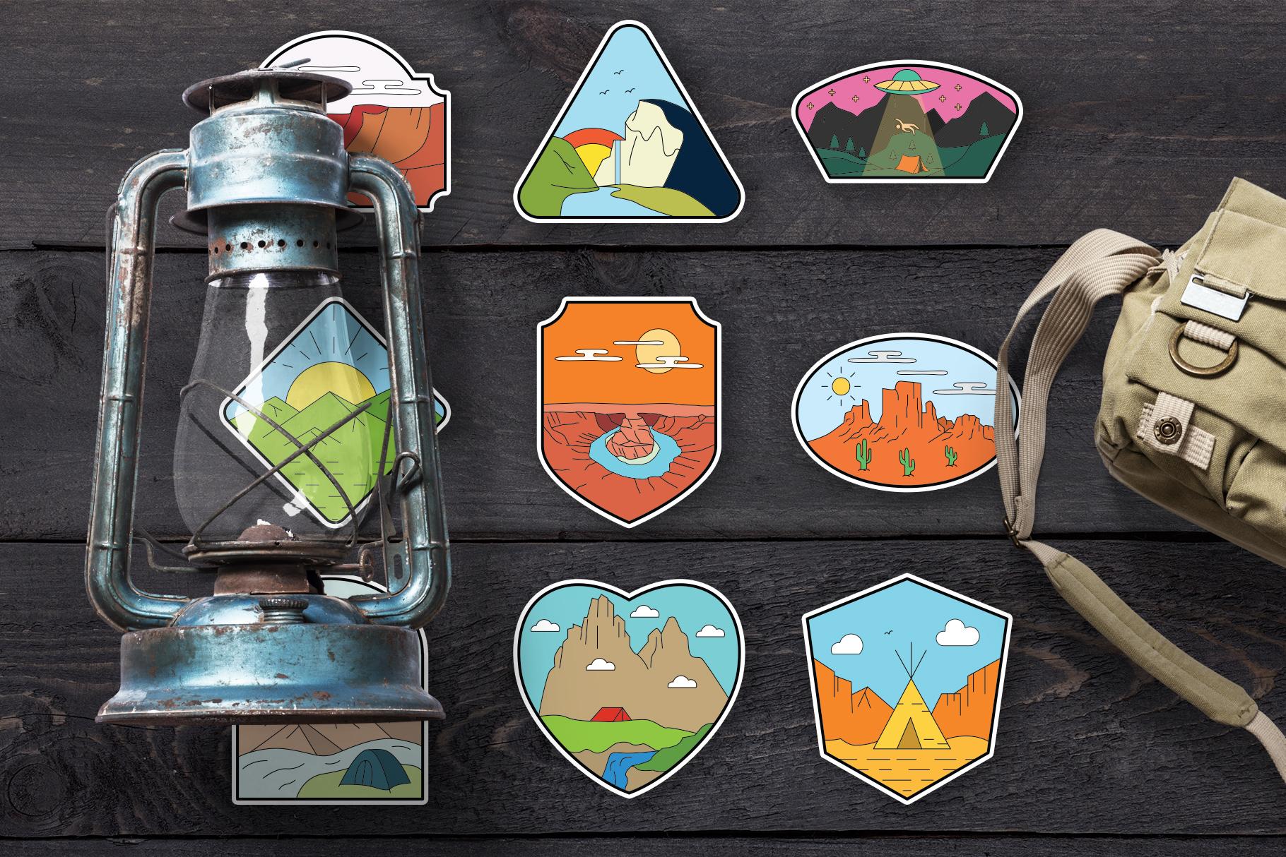 American Adventure Logo Kit / National Park Logos / Mountain example image 10
