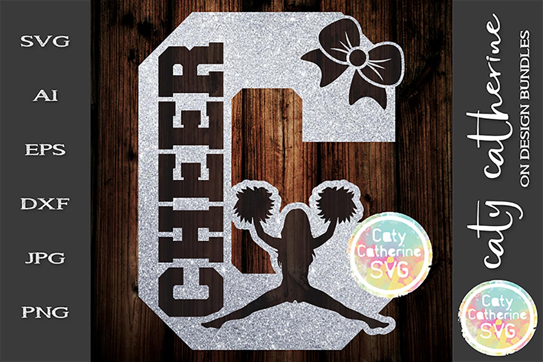 Letter C Cheerleading Monogram Letters SVG Cut File example image 1