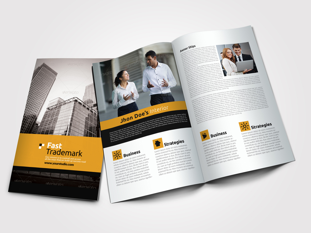 Business Bifold Brochure Templates example image 1